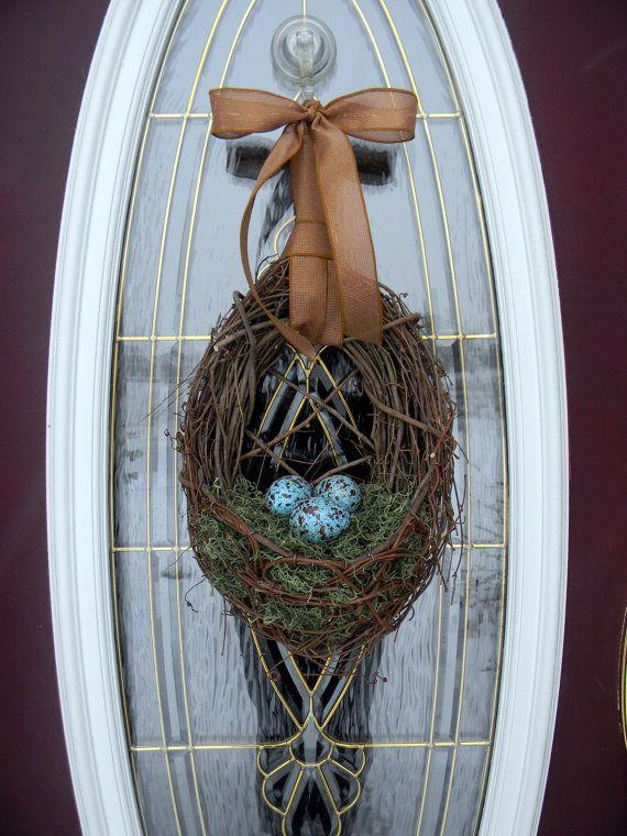 Easter grapevine door wreath: Spring Eggs, Doors Wreaths, Easter Grapevine, Decor Blu Spring, Front Doors, Easter Wreaths, Spring Wreaths, Wreaths Decor Blu, Spring Easter