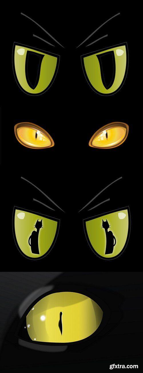 Occhi di Gatto Dorati-Golden Cat Eyes-Vector