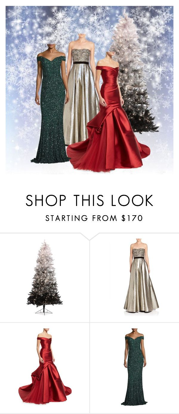 """""""Christmas Ball"""" by kreations-by-k ❤ liked on Polyvore featuring Pamella, Pamella Roland, Monique Lhuillier and Rachel Gilbert"""