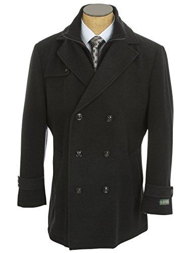 Ralph Lauren Pea Coat Navy Wool Blend Double Breasted New Men\u0027s Coat Short)