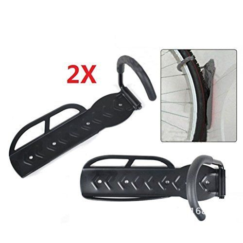 2X BLK Steel Bike Bicycle Wall Mount Hanger Storage Rack Hook Holder Stand USA ** Read more  at the image link.