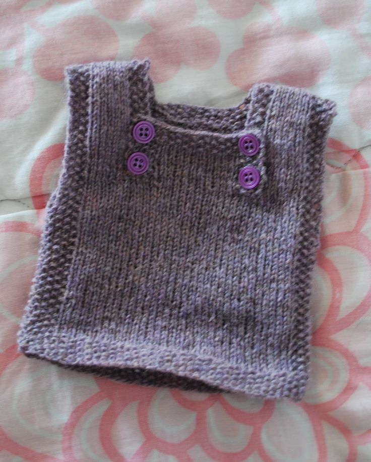 Little doll sweater- no pattern, but want to figure out how to make this adult size for myself in the winter