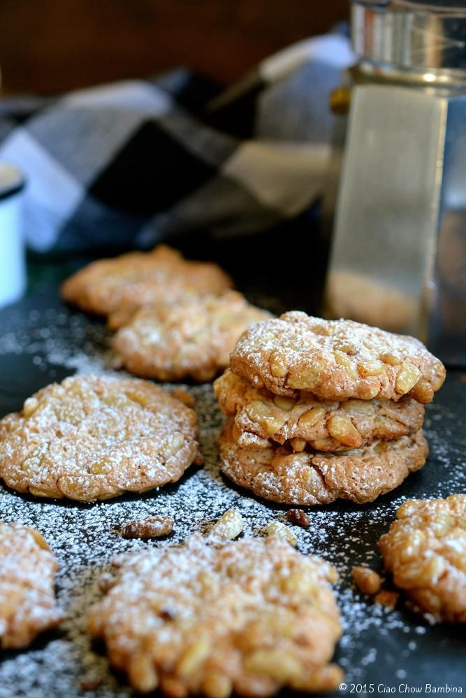 Perfect for your holiday cookie trays... Pignoli Cookies.
