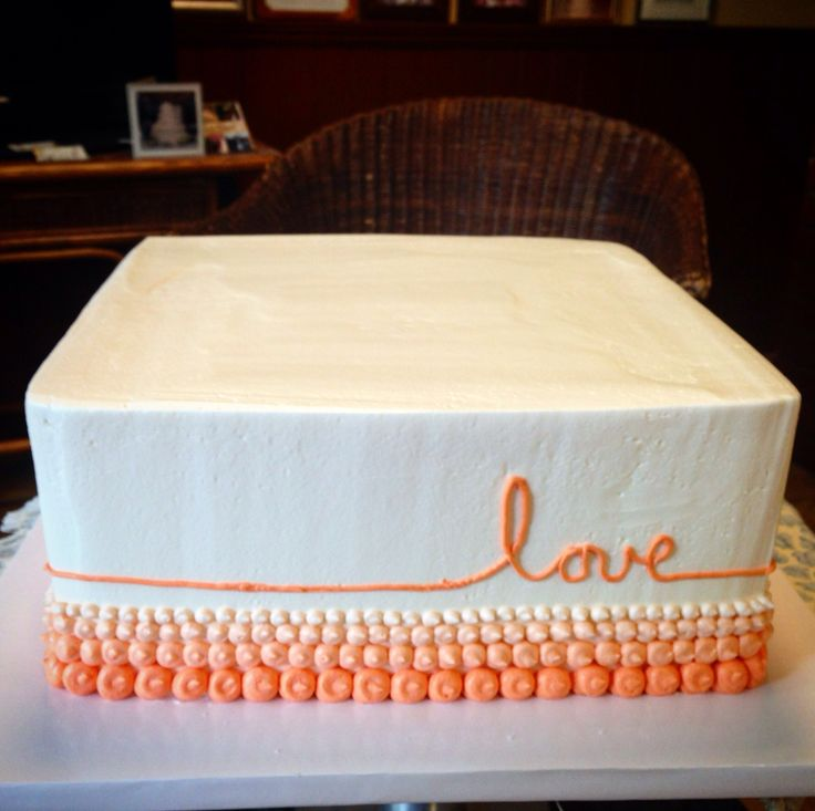 """Ombré peach pearls with a little """"love"""" fora simply stated Bridal celebration!"""