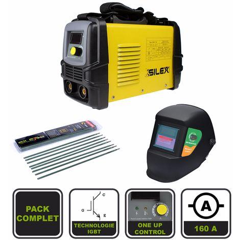 Pack poste à souder 160A + masque de soudure noir + 50 électrodes Silex ® - PACK160-100K - Outillage