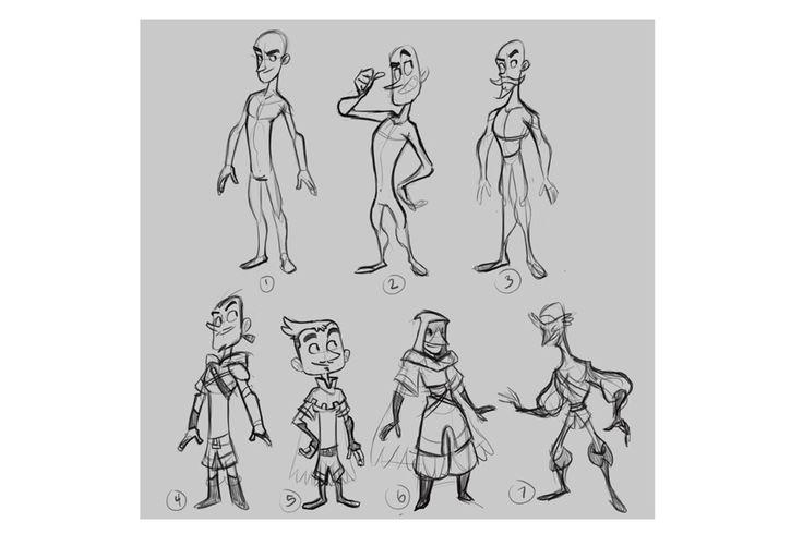 Cartoon Character Design Process : Best images about desenho anatomia de personagem on