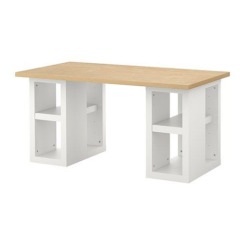 vika amonvika annefors table birch effectwhite ikea office work table craft room tablescraft