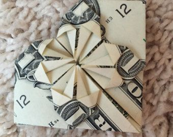 Items similar to Heart Dollar Origami on Etsy