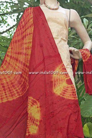 Stunning Cotton Dupatta with Applique work