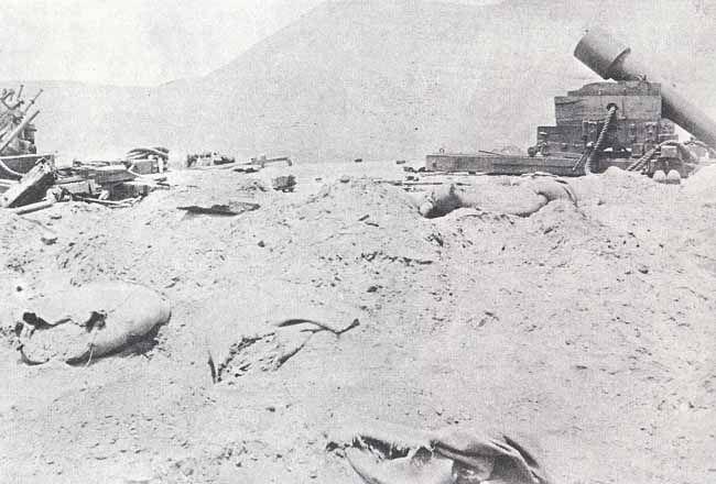 Cañón Parrot de 100 libras que defendió el Morro Solar de Chorrillos y fue destruido por los chilenos días después de la batalla