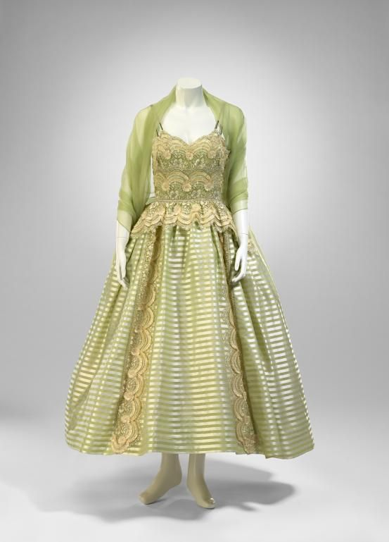 Evening Dress And Stole C 1955 Artist S Name Beril