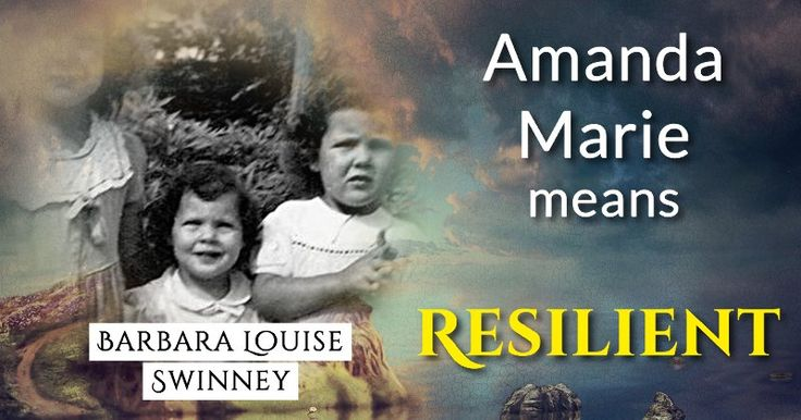 Your Child's Beautiful Name Has A Beautiful Meaning! Click Here!    Resilient: a person who is able to withstand or recover quickly from difficult conditions.Stand strong my sweet one.... life is full of adventures...    Barbara Louise, the beautiful name Amanda Marie means Resilient! You gave your child an impressive and exciting name that suits them to 100%! You can truly be proud of your darling and their unbelievable name!