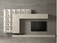 Mueble modular de pared de diseño con soporte para tv SLIM 47 by Dall'Agnese