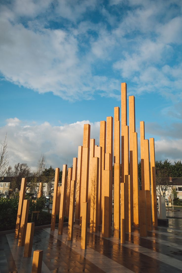 Accoya® wood has been used to create an impressive architectural sculpture that now adorns the entrance to Dublin City University (DCU). #accoya #wood