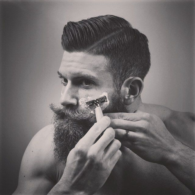 BEARDREVERED on TUMBLR | strawbosscombs:   Nothing like a good shave. Great...