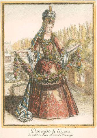 Danseuse de l'Opéra en habit de Flore, déesse du printemps