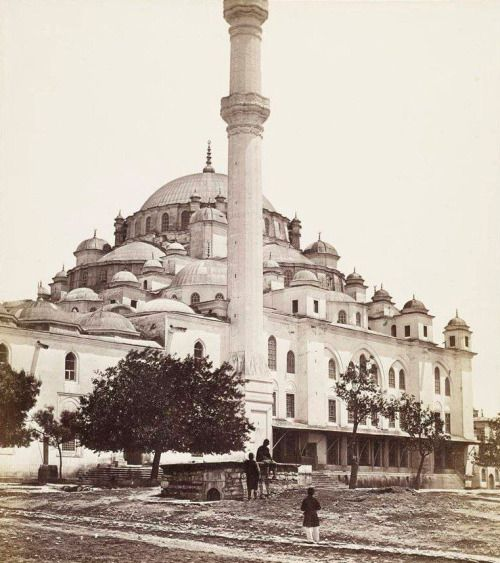 Fatih Mosque, Istanbul late 1800's.