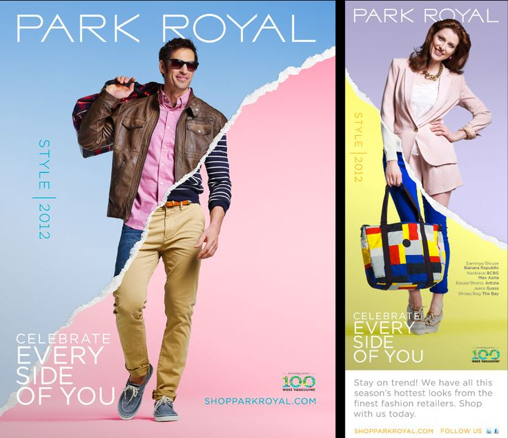 Park Royal - Spring Fashion 2012 - Free Agency Creative #graphicdesign #vancouver #branding #advertisement #print