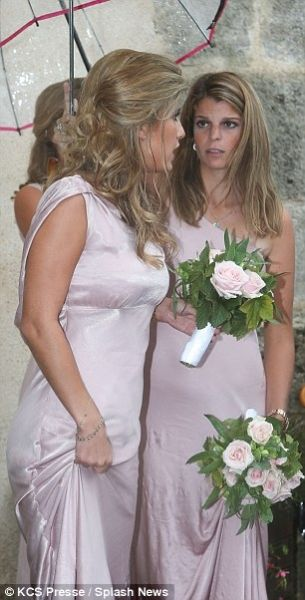 athina onassis 2014 | The bride Sandrine is daughter of Athena's father Thierry Roussel and ...