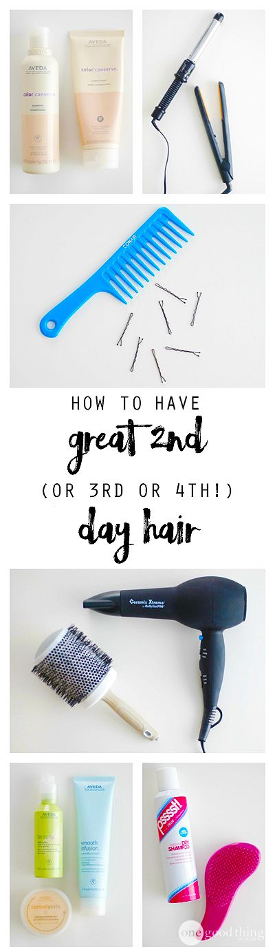 Give your hair a day (or more) off from washing (it's better for it anyway) with these simple and smart hairstyling tips!