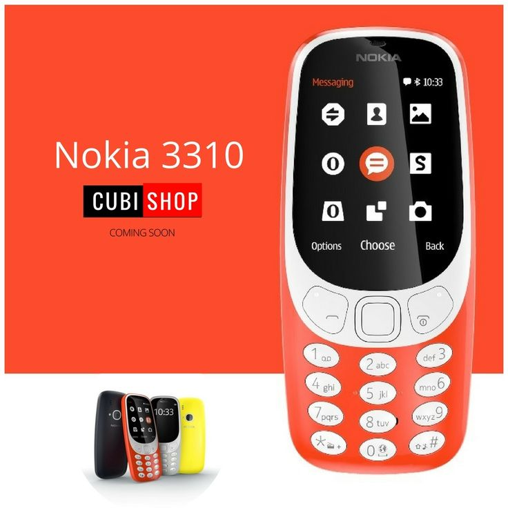 #Nokia launches new #Nokia3310 with battery life of one month and bigger screen than classic 2000. Buy Mobile phones at lowest prices from #Cubishop