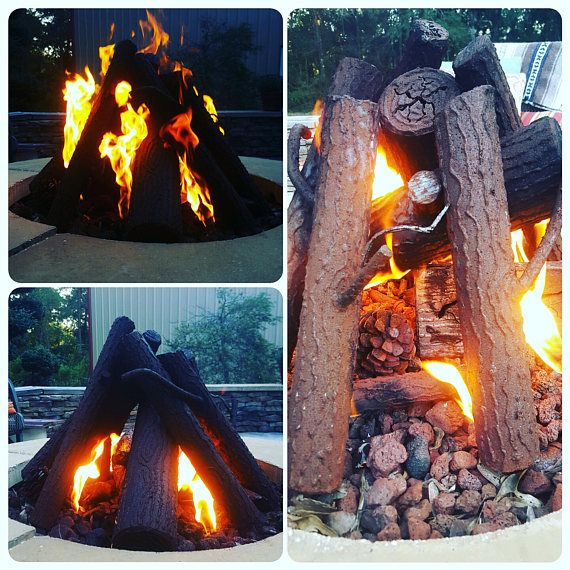 Gas Fire Pit Custom Steel Logs Gas Fire Pits Outdoor Gas Firepit Fire Pit Essentials