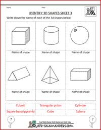 math worksheet : 27 best 3d shape worksheets images on pinterest  teaching math  : Solid Figures Worksheets