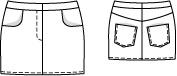 Schnittmuster: Mini-Rock - Lederimitat - Mini & kurze Röcke - Röcke - Damen - burda style
