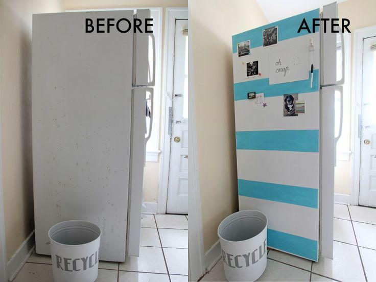 Best 25 Fridge makeover ideas on Pinterest  Painted fridge Beer fridge and Man cave paintings