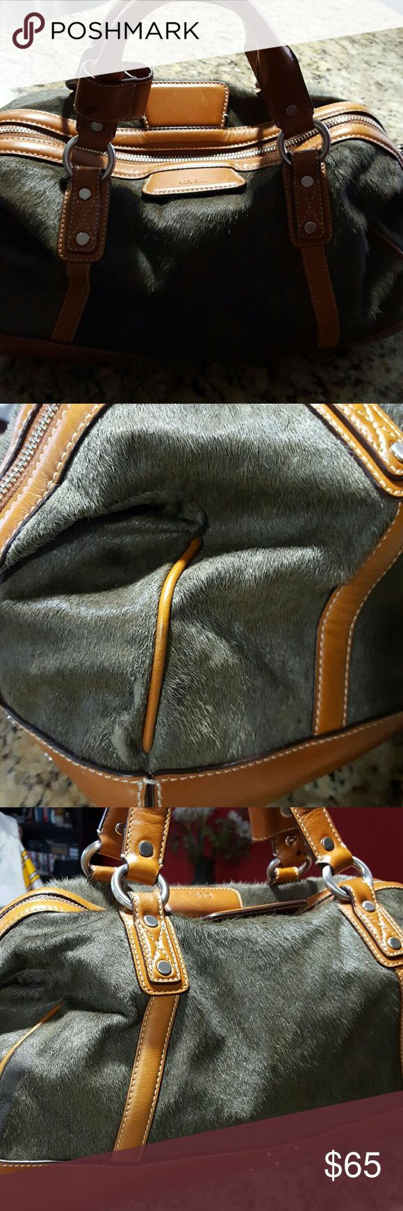** Hour Flash Sale**Cole Haan Calf Hair handbag Reposhed.....Need a little bigger... Very Good Condition. Inside Very clean and a little wear on the corners of bag. Excellent condition... Cole Haan Bags Satchels