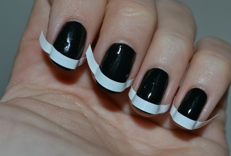 Black on Black French Mani| How to use matte finish nail polish|How to do matte nails|How to wear matte nail polish|Matte nail polish ideas|How to make nail polish matte
