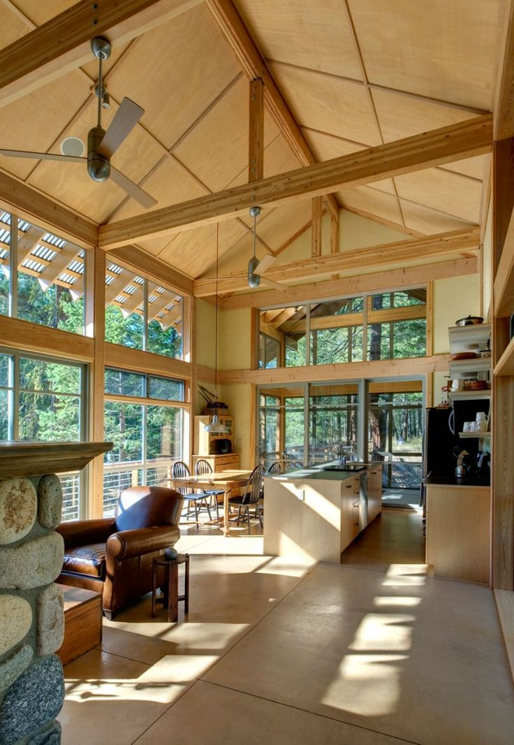Interior from Foster Loop, Washington state, USA by Balance Associates Architects