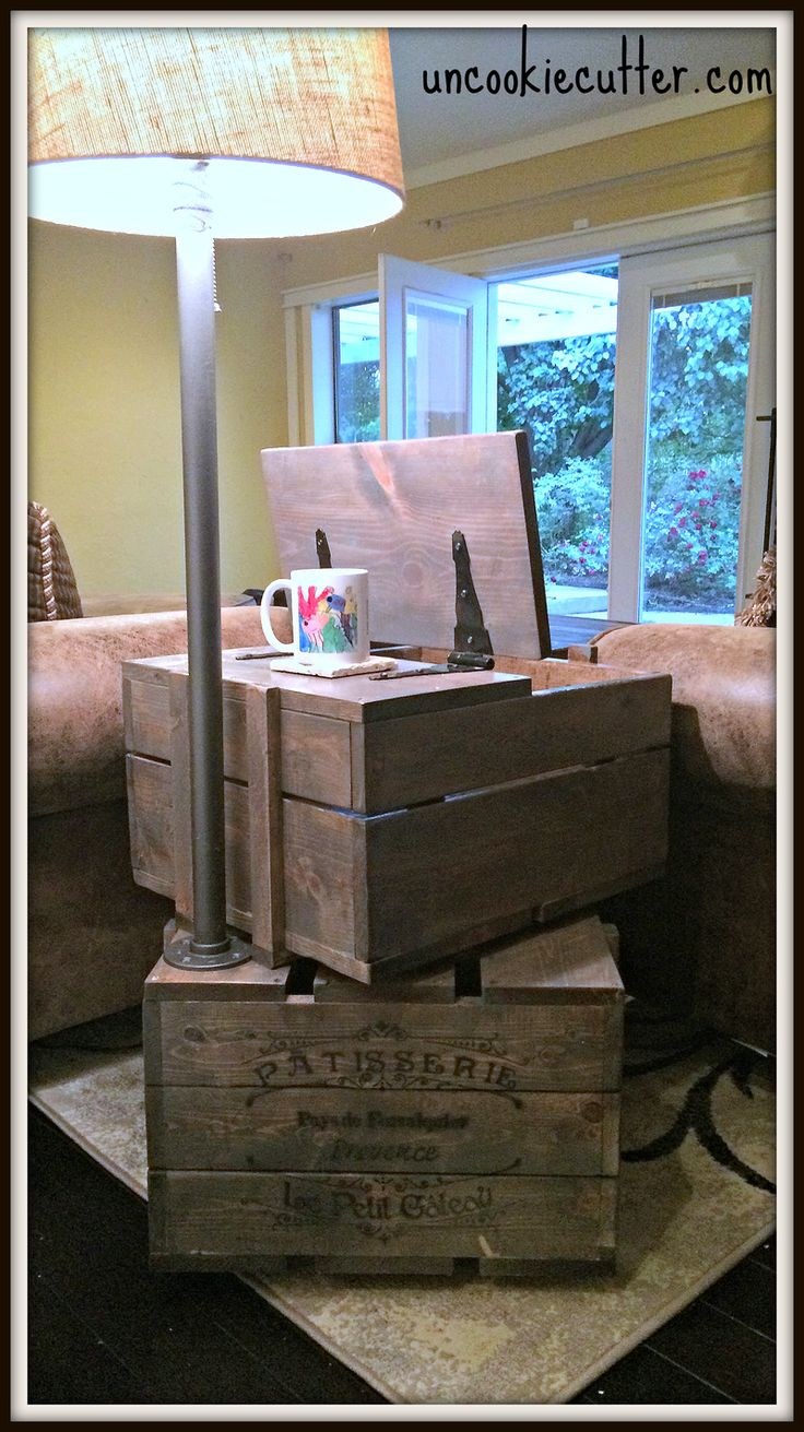 25 best ideas about crate end tables on pinterest decorating end tables diy end tables and. Black Bedroom Furniture Sets. Home Design Ideas