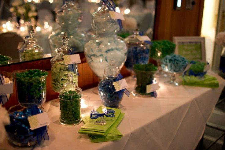 Blue and Green themed wedding and Candy Buffet by Mei & May www.meiandmay.com.au