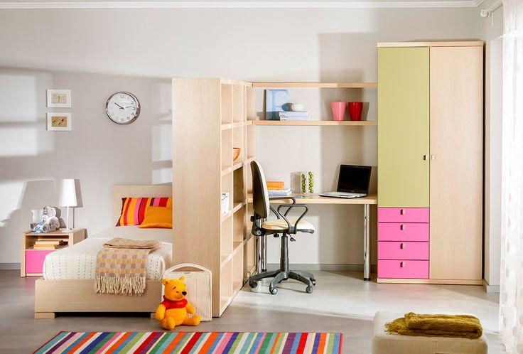 Дизайн комнаты подростка с перегородкой | Дизайн интерьера современной детской #астрон #мебель #astron #подростковые #детские