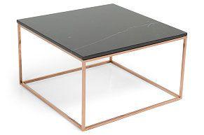 Sofabord Titania Svart Marmor/Kobber 75x75x45 cm