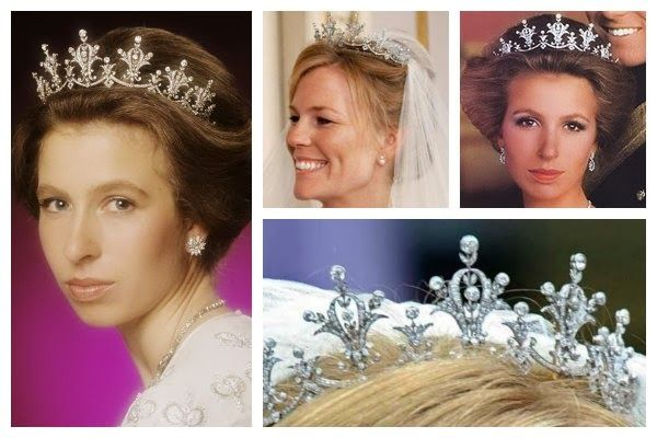 The Princess Anne Festoon Tiara Given To In 1973 When She Christened A Ship Wears It Regularly And Loaned Her Daught