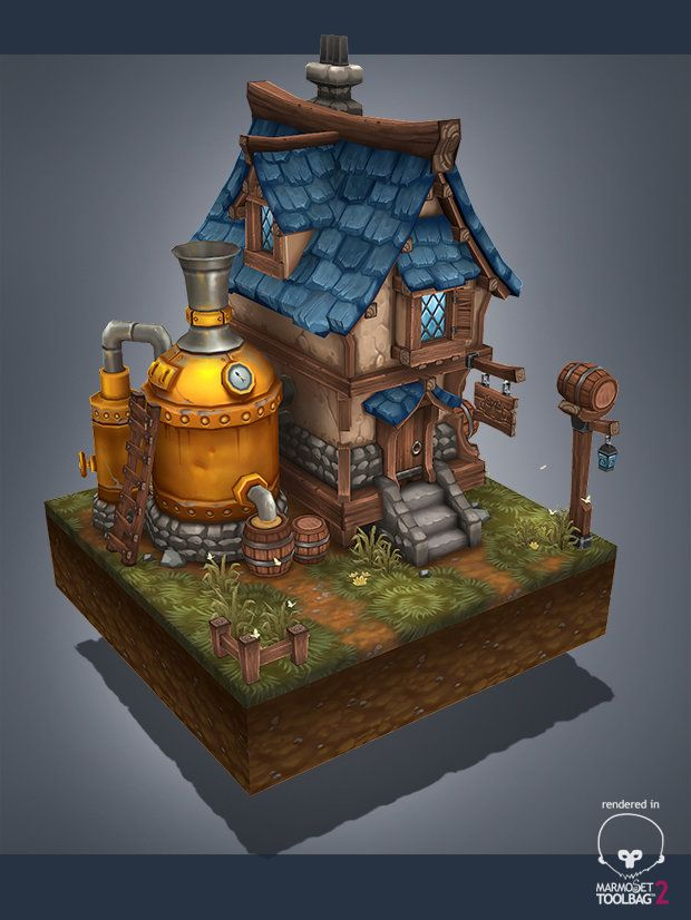Medieval brewery, Antonio Neves on ArtStation at https://www.artstation.com/artwork/medieval-brewery-ba8d2fd5-f11d-40ed-9605-69597accd315