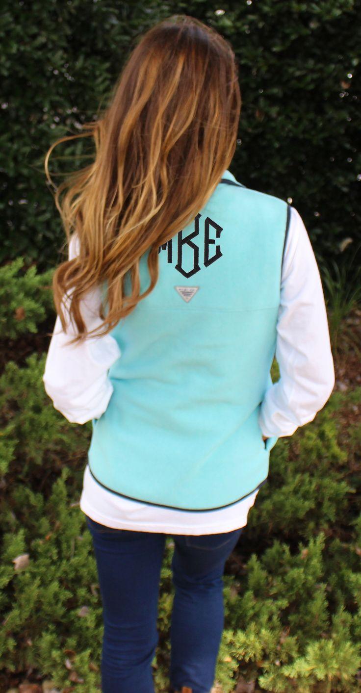 Monogrammed PFG Harborside™ Fleece Vest | Marleylilly.com