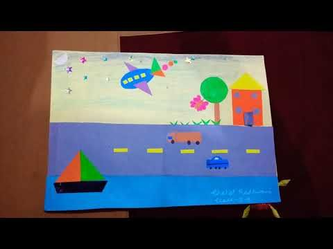 2 D shapes scenery - YouTube How to make scenery using 2D shapes
