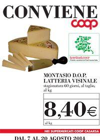 Montasio Dop Latteria Visinale in offerta in Coop Casarsa