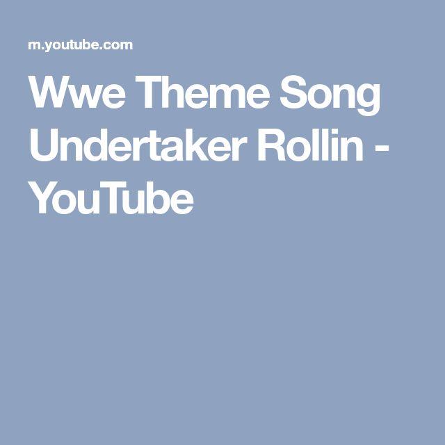 Wwe Theme Song Undertaker Rollin - YouTube