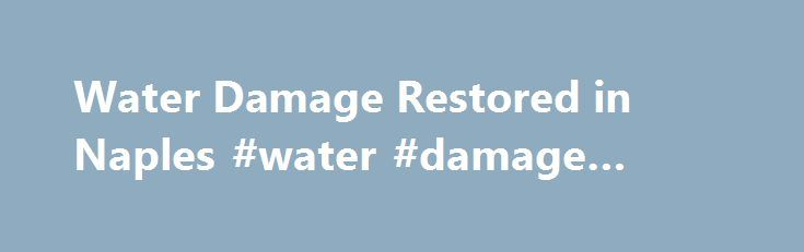 Water Damage Restored in Naples #water #damage #naples http://nashville.remmont.com/water-damage-restored-in-naples-water-damage-naples/  # Call Us 1-844-803-4814 Water Damage in Naples, FL Water Damage in Naples, FL Water Damage Restored in Naples We Go Beyond Water and Flood Damage Restoration At our company, our objective is to dry the affected areas, remove all the dirt, and bring back the pre-loss condition of your home and business after the water damaged it forcefully so you can…