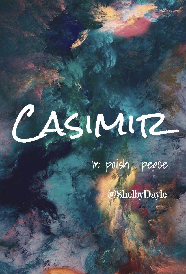 Casimir - cool baby boy name!  Pronounced: Kaz-ih-meer OR in proper Polish: Kaz-meer #babynames #names #uniquenames