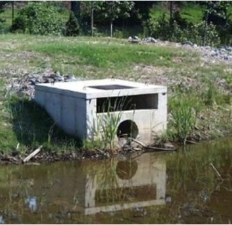 What is a stormwater outlet structure stormwater pond for Design of stormwater ponds