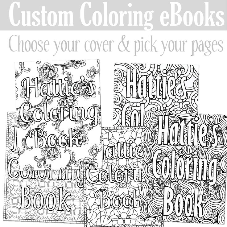 create a custom coloring book as a gift for someone or a special gift for - Custom Coloring Book