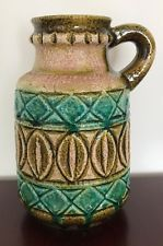 West German Pottery Henkelvase Bay Keramik Form 93 25 grün green 60er 60s retro