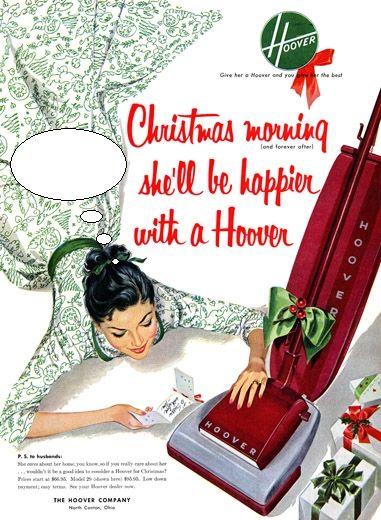 Hoover (Christmas Season) Vintage Ad
