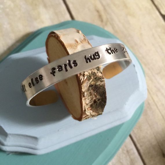 "Hand Stamped Cuff Bracelet  ""if all else fails hug the dog"""