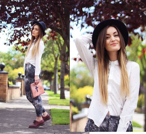 : Fashion Style, Ombre Hair, Fashion Outfits, Dips Dyes, Clutches, Boho, Black Hats, Bags, Fashion Girls